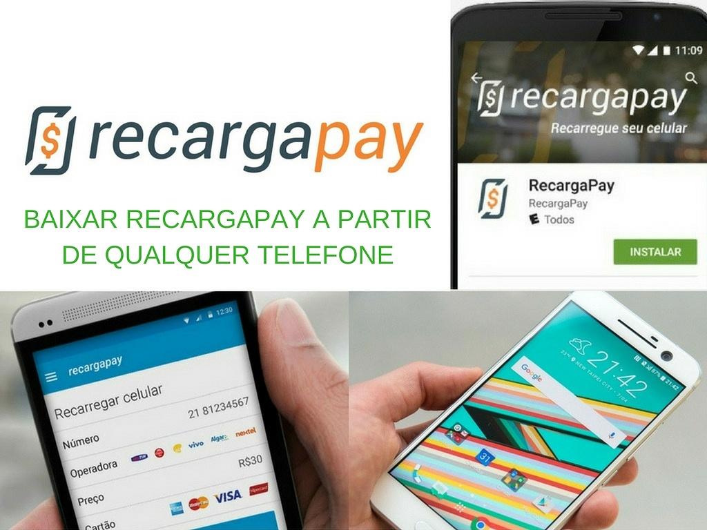 Baixar Recargapay a partir de qualquer telefone é pagar suas contas