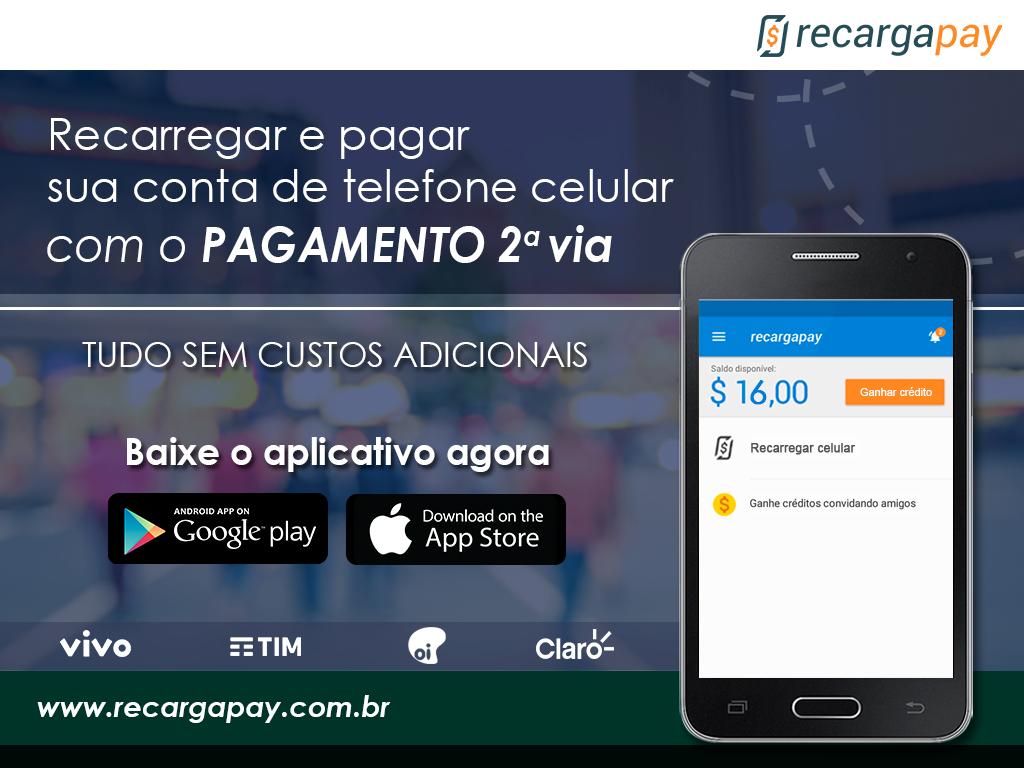 Pagamento 2a via com App Recargapay