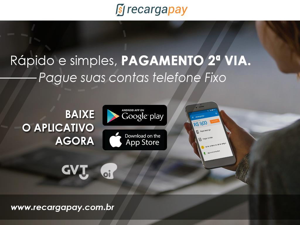 Fazer seu pagamento 2ª via telefone fixo pelo celular com RecargaPay