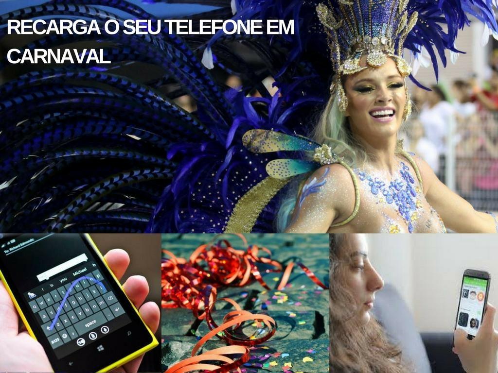 Recarga seu telefone em carnaval eo partido não está perdida
