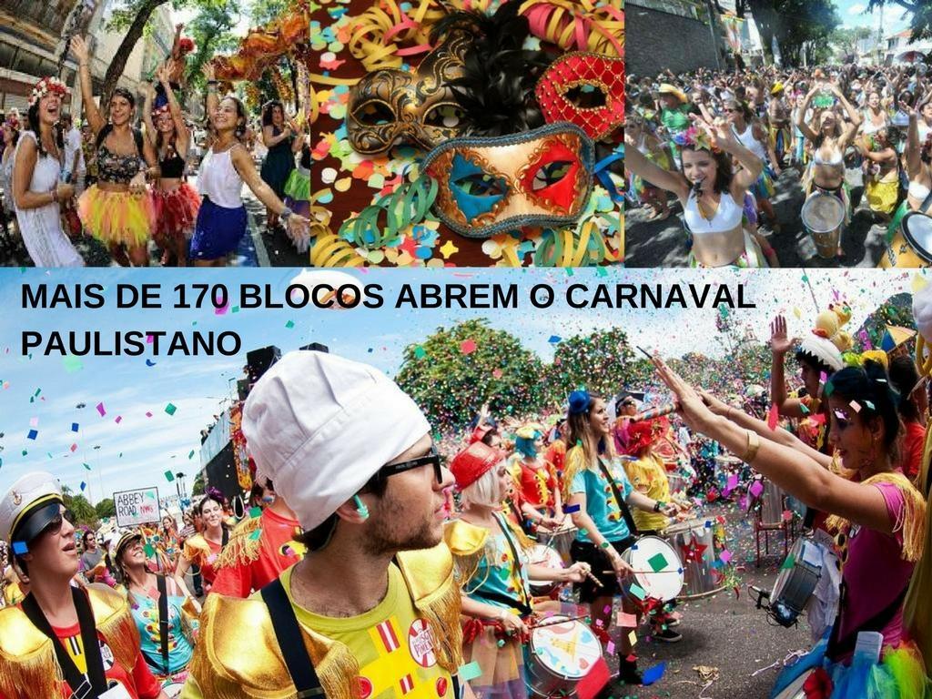 Mais de 170 blocos abrem o carnaval paulistano
