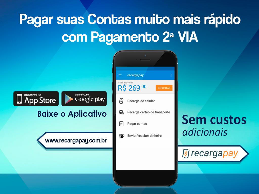 Pagar sua segunda via pelo celular com RecargaPay