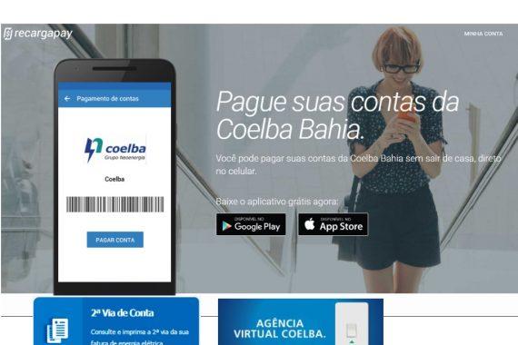 Pague suas contas da Coelba Bahia com Recargapay