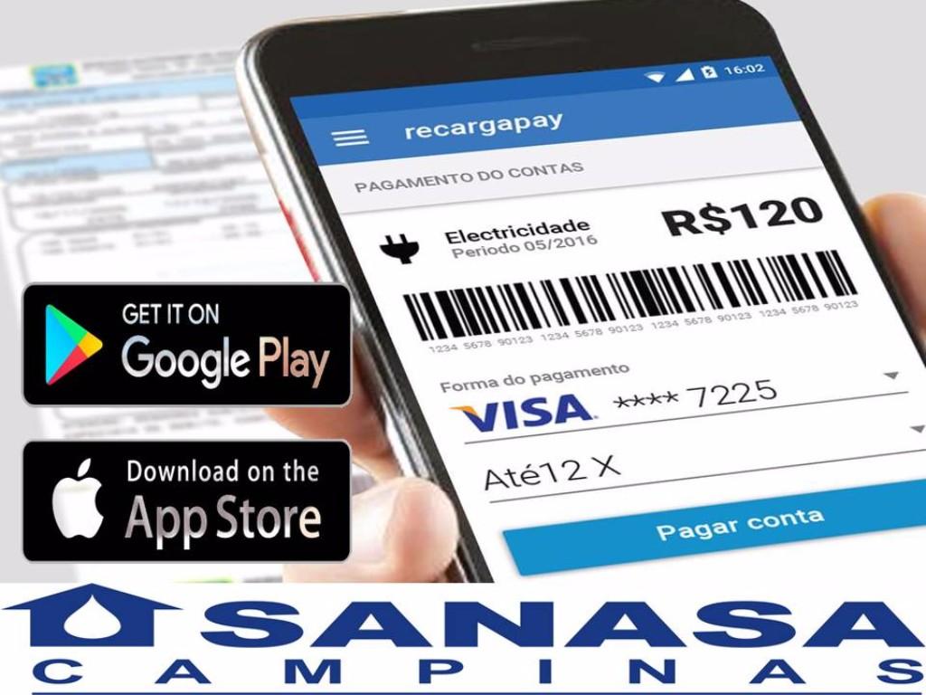 Aplicação RecargaPay para pagar serviços e recarregar saldo de seu celular em Campinas