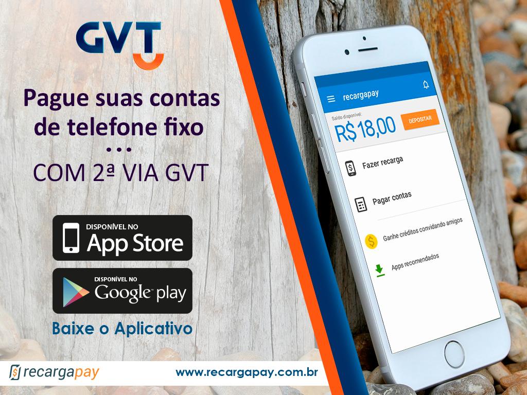 Pague sua segunda via GVT pelo celular