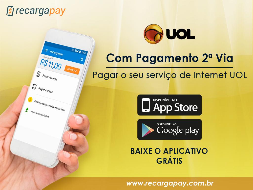 pagar o serviço de internet UOL com pagamento 2ª via
