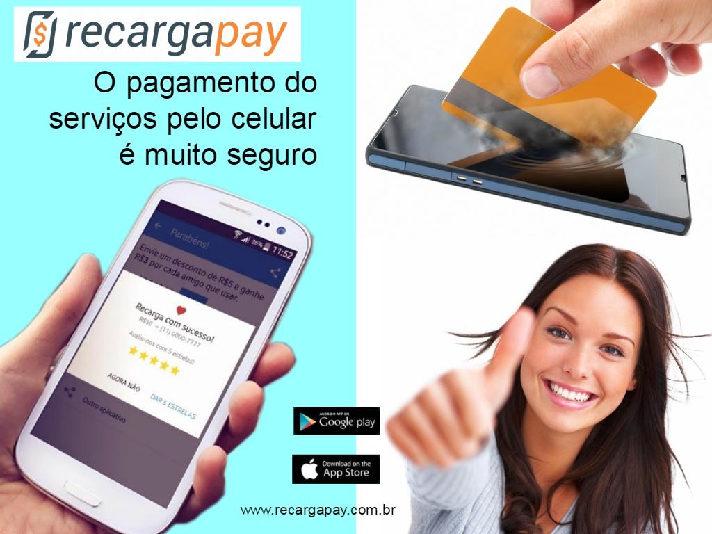 Pagamento do serviços pelo celular é muito seguro