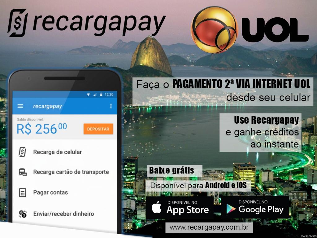 faça o pagamento 2ª via internet UOL desde seu celular