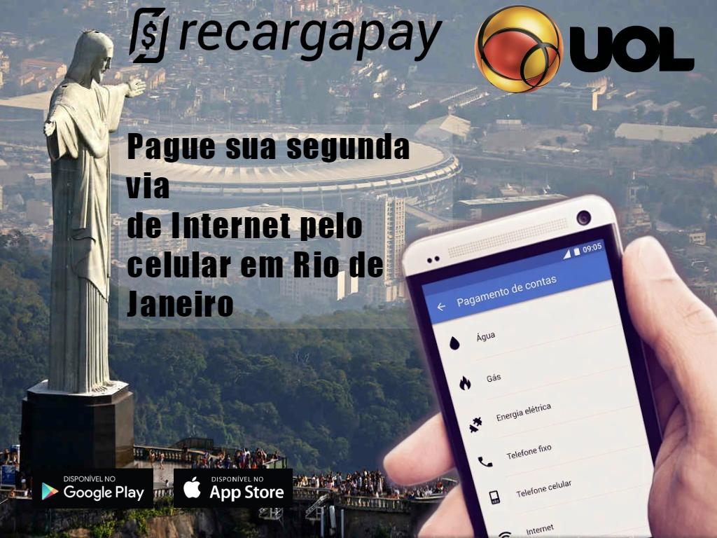 pague sua segunda via de internet pelo celular em rio de janeiro