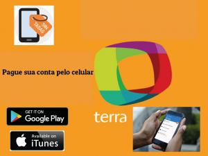 Pagamento da conta de internet Terra pelo celular