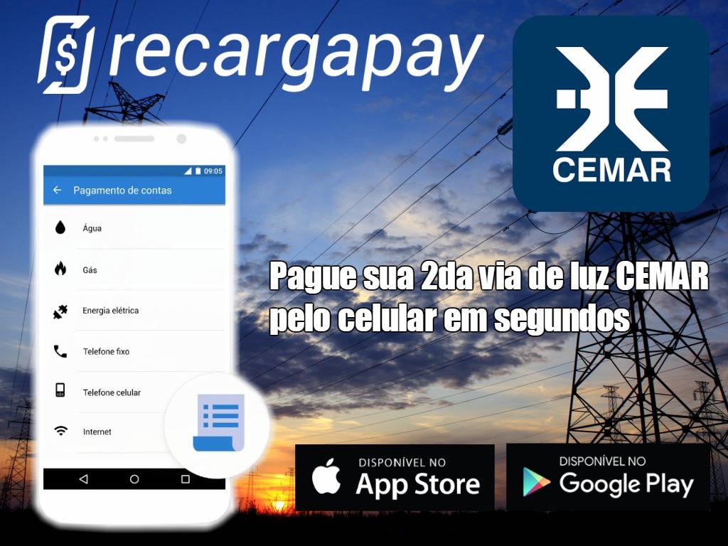 Pagamento da 2da via de luz CEMAR pelo celular na cidade de São Luís