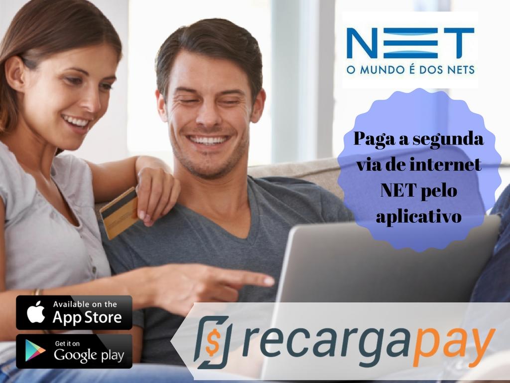 aplicativo para pagar a segunda via de internet de NET pelo celular