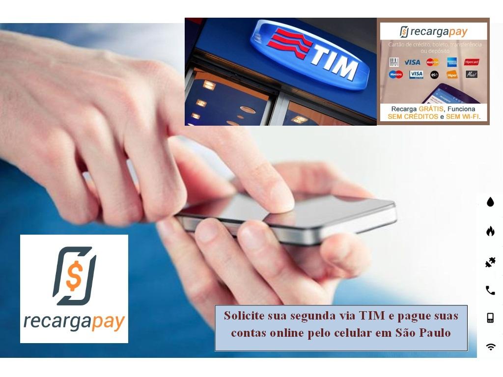 Aprenda a fazer o pagamento de sua conta de TIM em Sao Paulo usando a segunda via