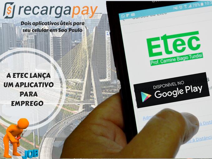 Etec o aplicativo para empregos em São Paulo