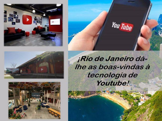 A magia de Youtube Space invade a cidade de Rio de Janeiro