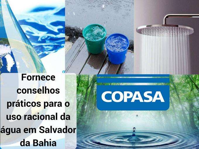 Aplique as dicas que a Copasa fornece para poupar água
