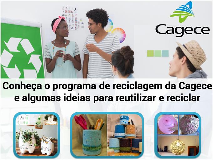 Conheça o programa de reciclagem da Cagece