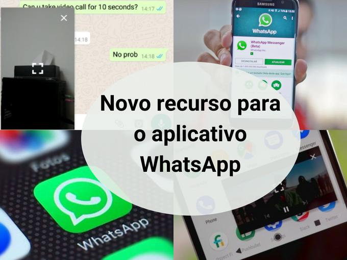 Recurso picture in picture para WhatsApp