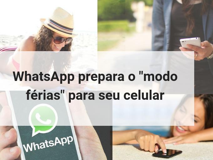 Modo Férias no Whatsapp