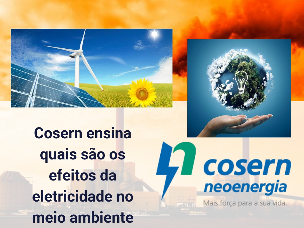 Cosern ensina quais são os efeitos da eletricidade no meio ambiente