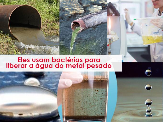 Água descontaminada de metal pesado com todos os tipos de métodos inovadores