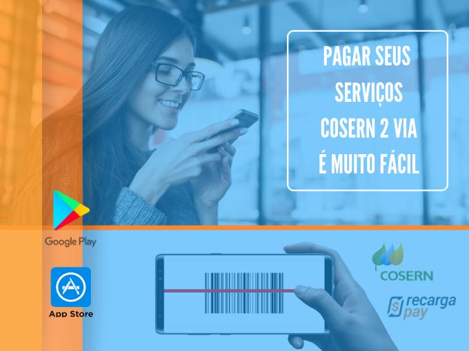 Pagar seus serviços Cosern 2 via é muito fácil com RecargaPay