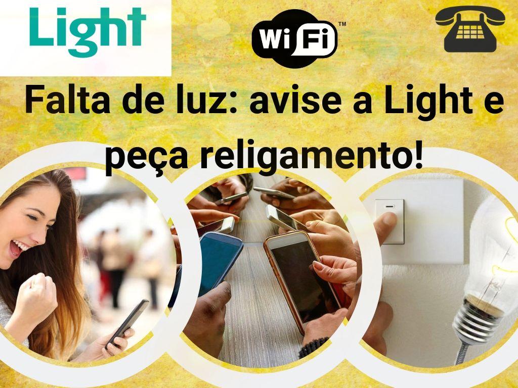 Avise a falta de luz Light e peça religamento!