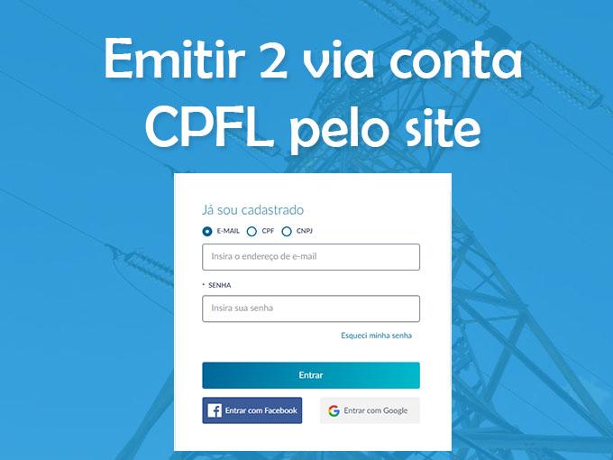 Emitir segunda via da conta CPFL pelo site