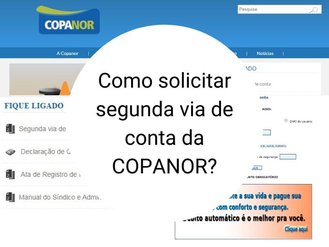 Como solicitar segunda via de conta da COPANOR?