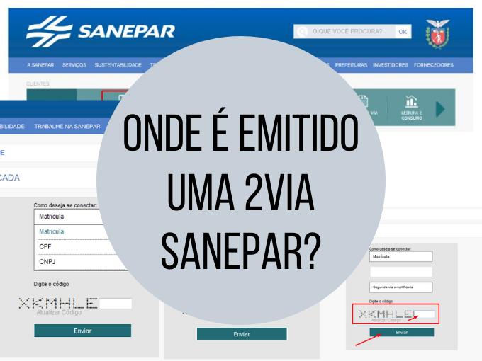 Onde é emitido uma 2via Sanepar
