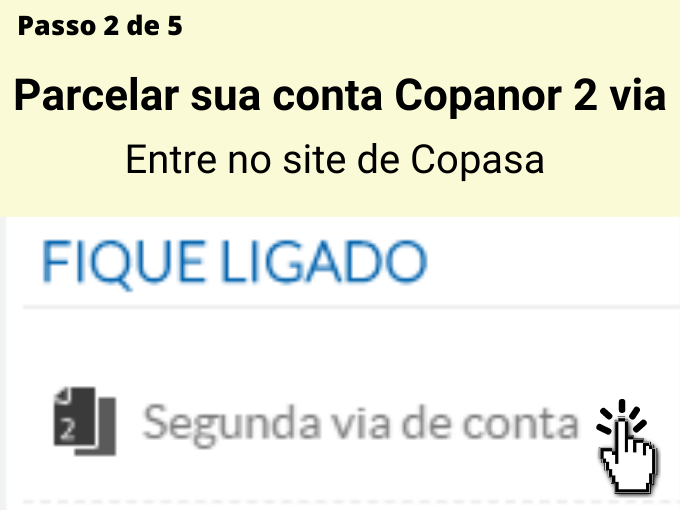Passo 2 de 5 para pagar Copanor 2 via