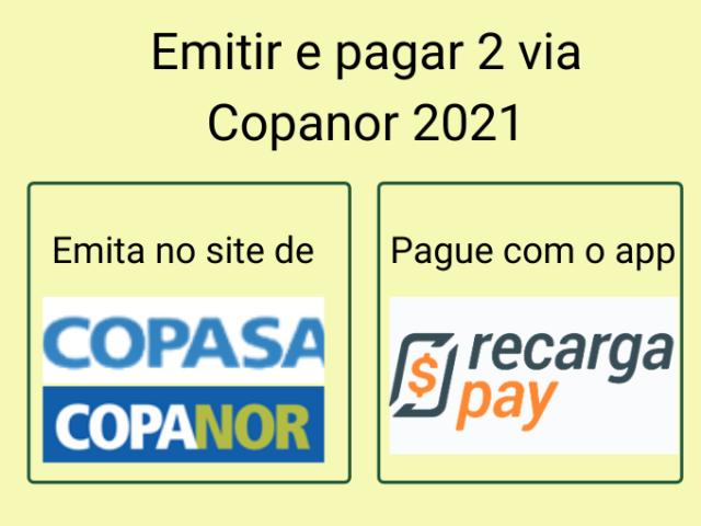 Emitir e pagar 2 via Copanor 2021