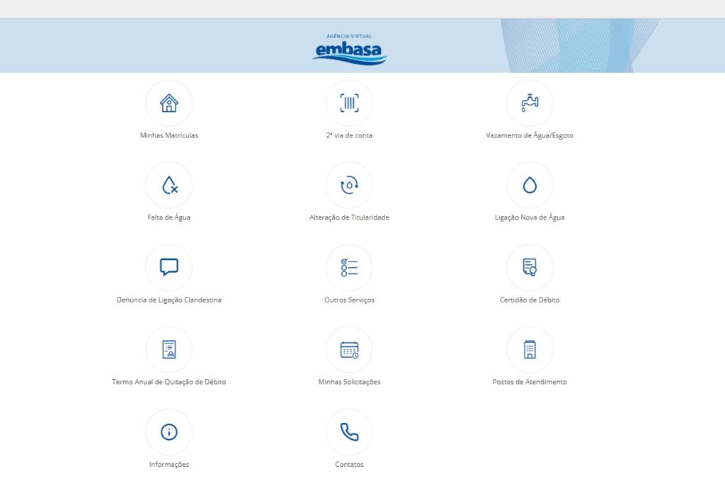 Entre no site de Embasa