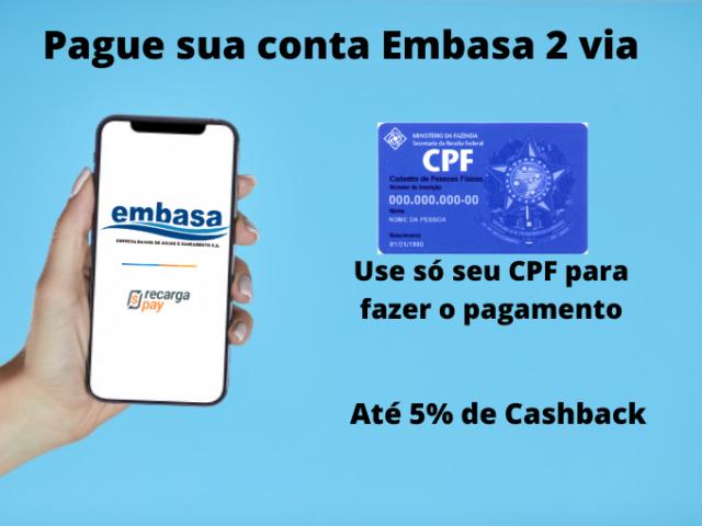 Pague sua conta Embasa 2 via