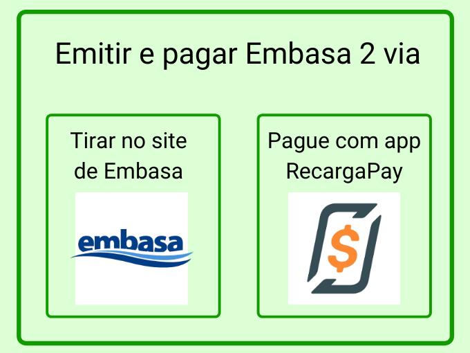 Emitir e pagar Embasa 2 via