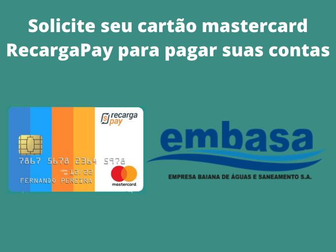 Solicite seu cartão mastercard RecargaPay para pagar suas contas