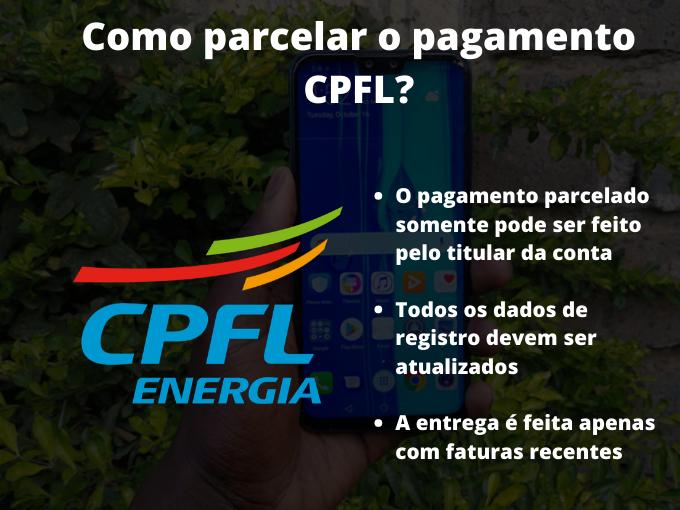 Como parcelar o pagamento CPFL_