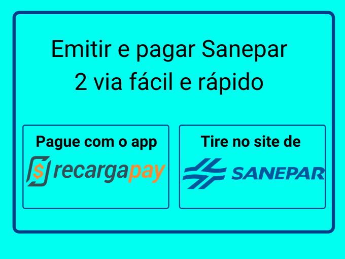 Emitir e pagar Sanepar 2 via fácil e rápido