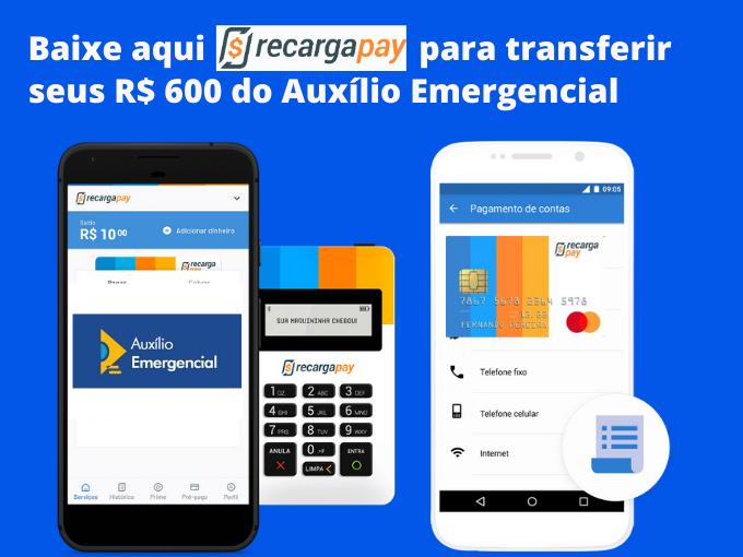Saiba como usar o RecargaPay para transferir Auxilio Emergencial