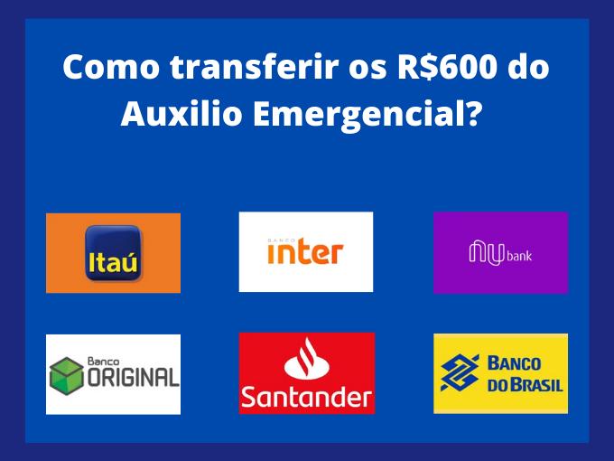 Passos para transferir R$ 600 em ajuda financeira