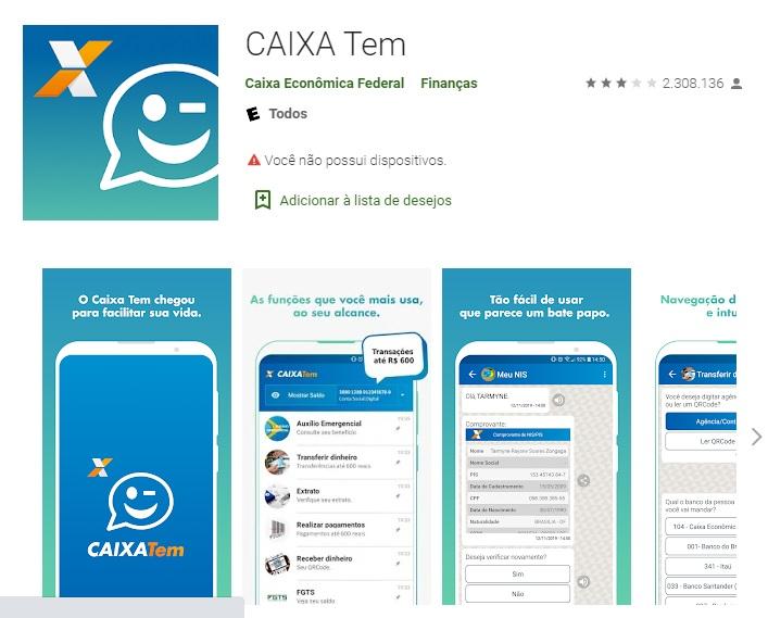 Use o aplicativo Caixa TEM com R$ 600