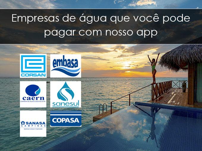Empresas de água que você pode pagar com nosso app