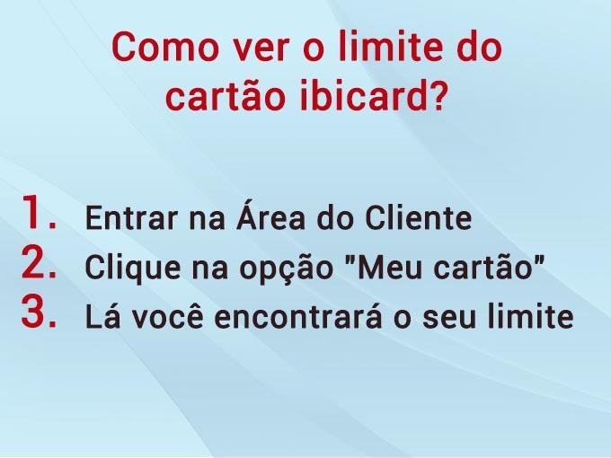 como ver o limite de cartao ibicard