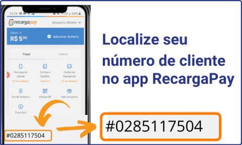 Localize seu número de cliente no RecargaPay