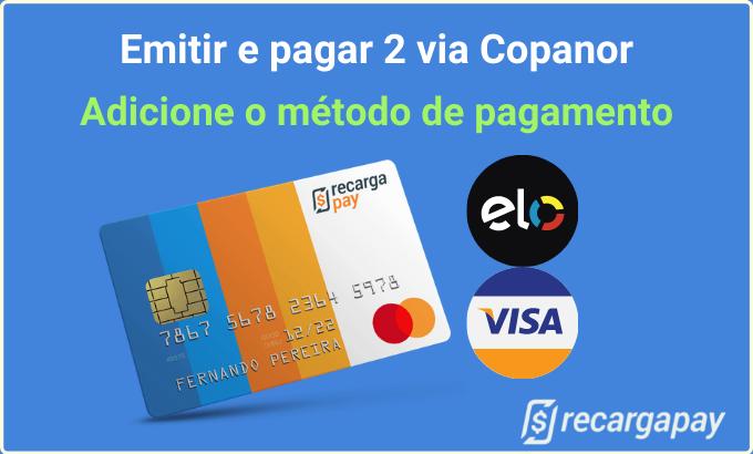 Escolha o método de pagamento